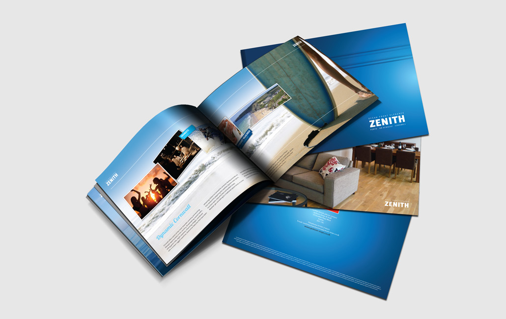 A4 Landscape Brochure Design Idea