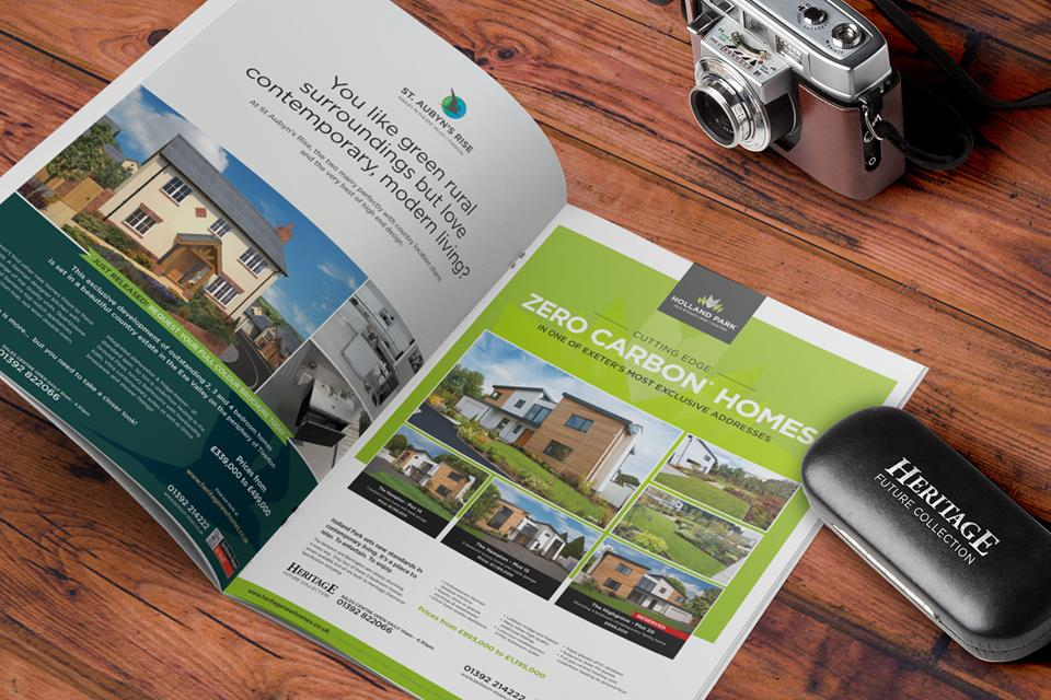 Property Advert Design in Brochure