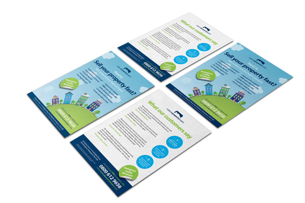 estate agent flyer design