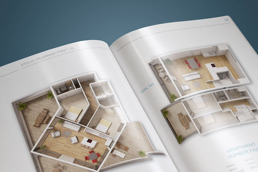 real estate brochure floorpan