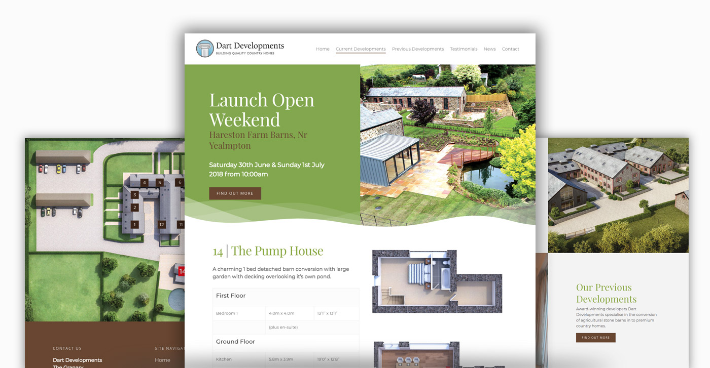 new homes web design example