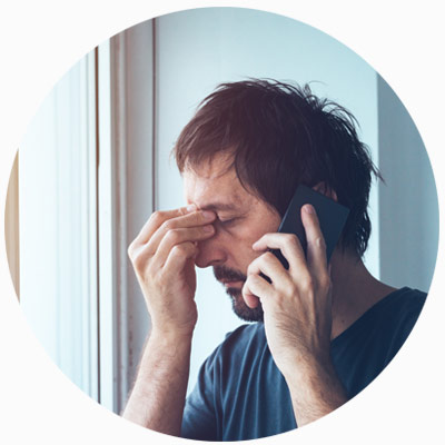 frustrated phone call