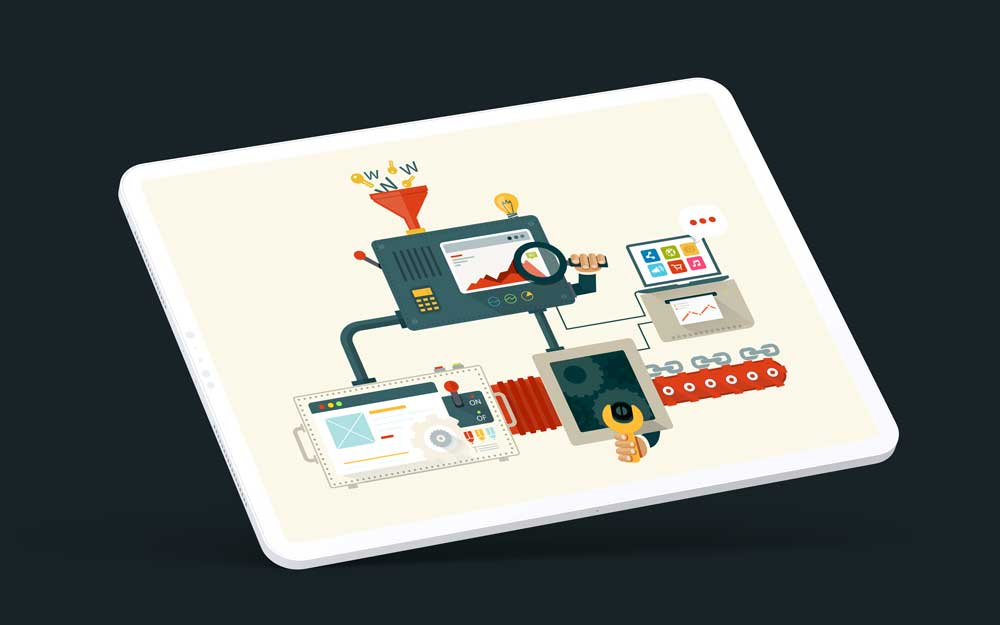 Technical SEO Services - Abstract concept as shown on a tablet